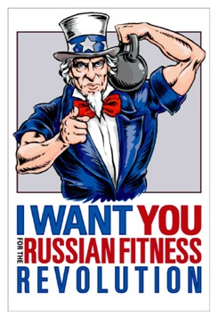 Uncle Sam kettlebell